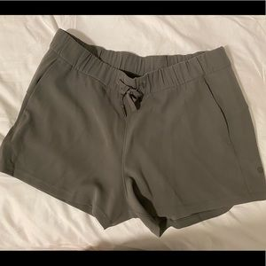 Lululemon on the fly shorts. Size 12. Olive green